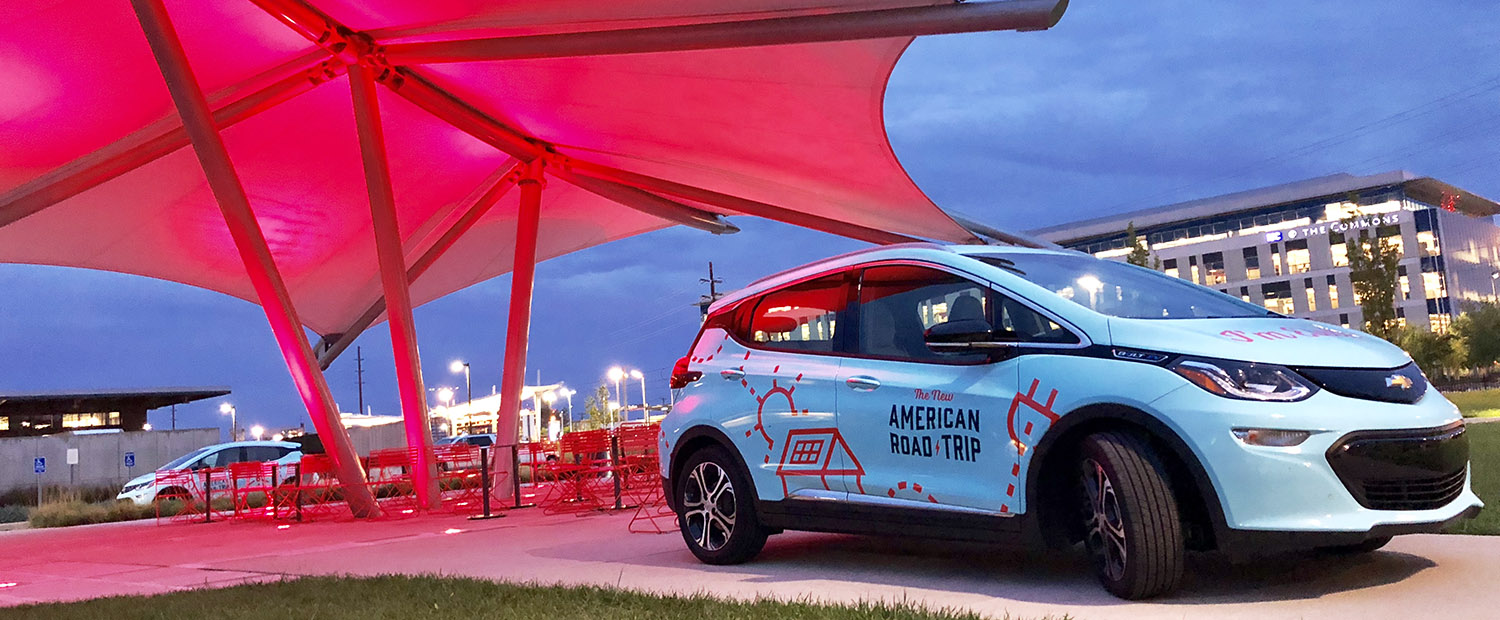 The New American Road Trip 2018 - Electric car