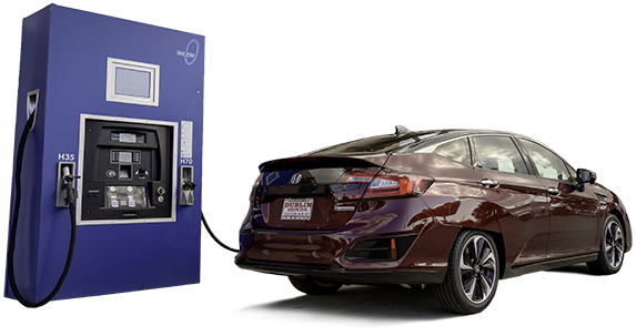 Honda Clarity fuel cell electric vehicle and hydrogen fueling station