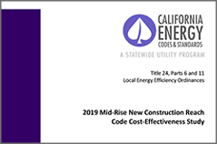 2019 Mid-Rise New Construction Reach Code Cost-Effectiveness Study