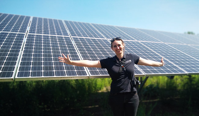 Carina at Halfmoon solar farm