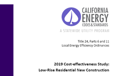 2019 Cost-effectiveness Study: Low-Rise Residential New Construction