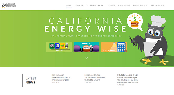 California Energy Wise website