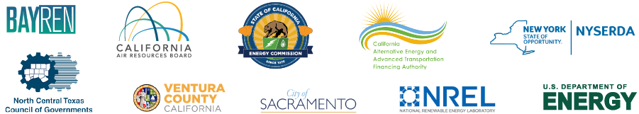 BayREN, California Air Resources Board, California Energy Commission, California Alternative Energy and Advanced Transportation Financing Authority, NYSERDA, North Central Texas Council of Governments, Ventury County, City of Sacramento, National Renewable Energy Laboratory, U.S. Department of Energy