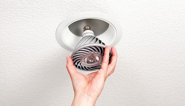 LED lightbulb install