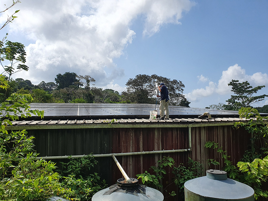 Maintaining solar panels at Red Frog