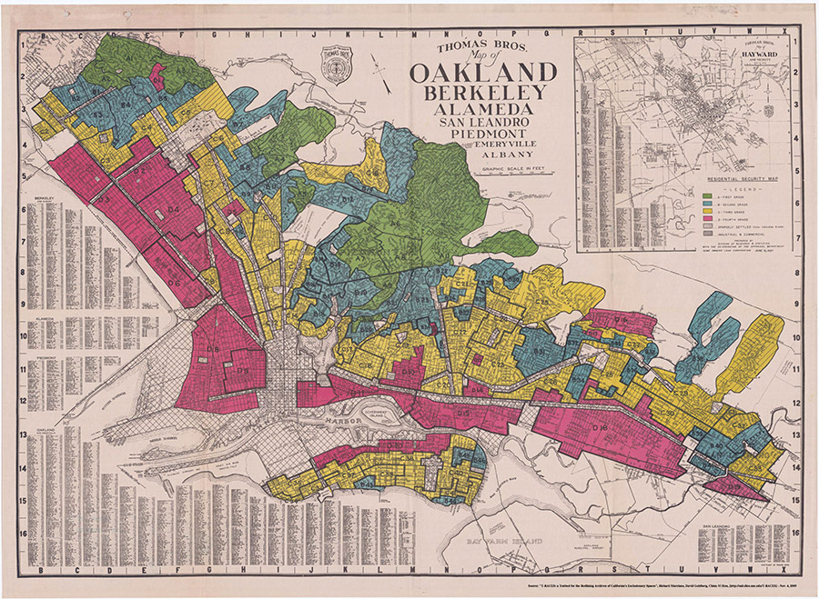 Oakland, Berkeley, Alameda, San Leandro, Piedmont, Emeryville, and Albany residential security map